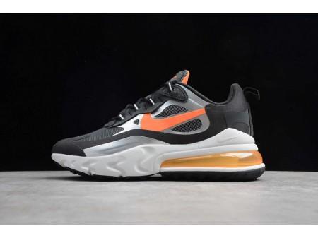 Nike Air Max 270 React Negras Total Naranja CQ4598-084 Hombres