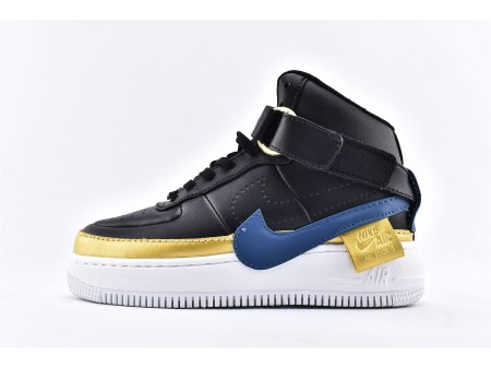 Mujer Nike Air Force 1 Jester High XX Negro Blustery Dorado AR0625-001 Mujer