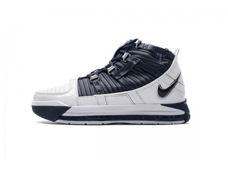 Nike Zoom Lebron III QS Blancas/Midnight Marino AO2434-103 Hombres