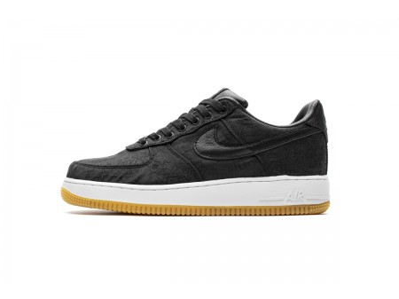 CLOT x Nike Air Force 1 Low PRM Negro Seda CZ3986 001 Hombres Mujer