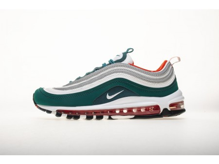 """Nike Air Max 97 GS """"Miami Dolphins"""" Rainforest Blanco Equipo Naranja 921522300 Hombres y Mujeres"""