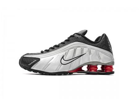 Nike Shox R4 Negro Metálico Plata BV1111-008 Hombres