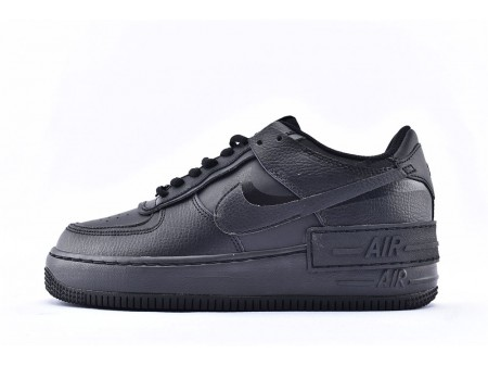 Nike Air Force 1 Shadow Low Todas Negras CI0919-001 Hombres Mujer