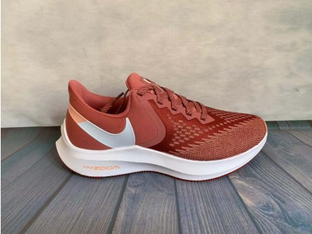 Nike Zoom Winflo 6 Light Rojowood/Blanco Zapatillas AQ8228-800 Mujer