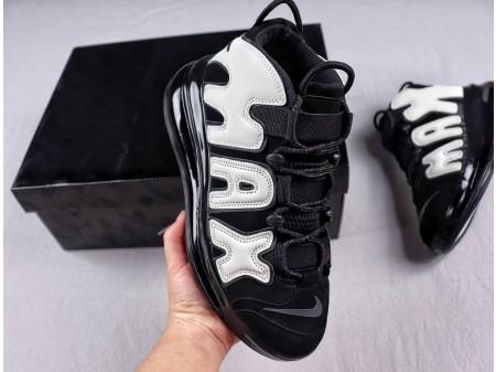 Nike Air More Uptempo 720 QS Negras/Metálicas BQ7668-002 Hombres