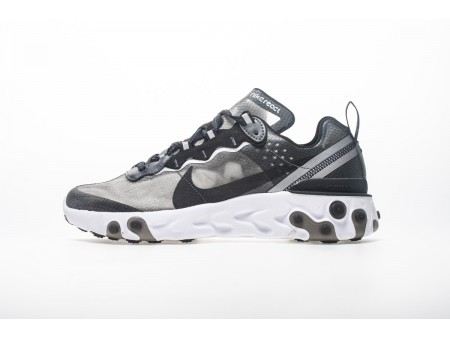 Nike React Element 87 Anthracite Negras AQ1090-001 Hombres Mujeres