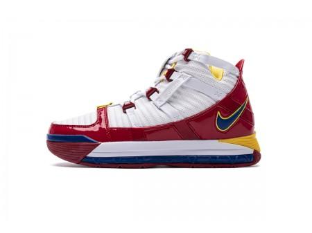 Nike Zoom Lebron III QS Blancas Superman Rojas AO2434-100 Hombres