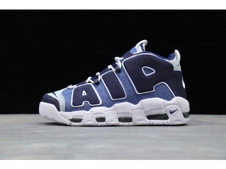 """Nike Air More Uptempo 96 QS """"Denim"""" Azules CJ6125-100 Hombres"""