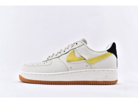 Nike Air Force 1 '07 LX Vandalized Blanco/Negro/Amarillo BV0740-101 Hombres Mujeres