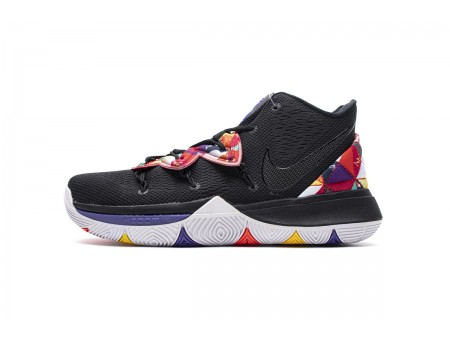 """Nike Kyrie 5 GS """"Chinese New Year"""" Negras Blancas AQ2456 010 Hombres"""