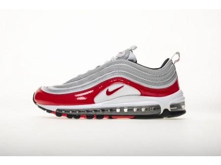 Nike Air Max 97 GS Plata Rojo Universidad 921826 009 Hombres y Mujeres