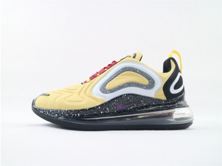 Nike Air Max 720 Amarillo Negro Spray Point AO2924 021 Hombres