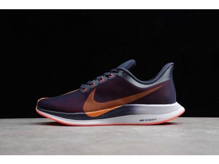 Nike Zoom Pegasus 35 Turbo Negroened Azul Naranja Peel AJ4114-486 Hombres