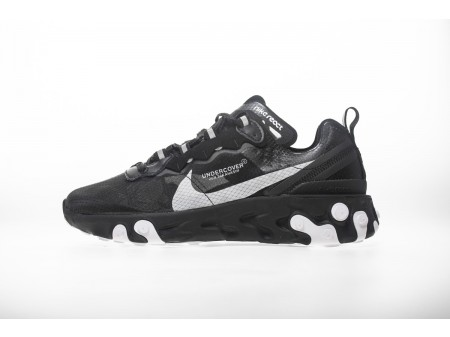"""UNDERCOVER X Nike Upcoming React Element 87 """"All Negro"""" AQ1813-001 Hombres Mujeres"""