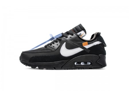OW Off White x Nike Air Max 90 Negro AA7293-001 Hombres