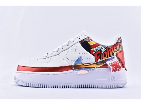 Mujer Nike Air Force 1 Jester Low XX FIBA China Exclusive Blanco Rojo/Multicolor CK5738-191 Mujer