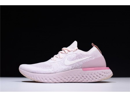 Nike Epic React Flyknit Pearl Rosa AQ0070-600 Mujer