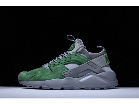 Nike Air Huarache Ultra Id Gris Verde 829669-664 para Hombres y Mujeres