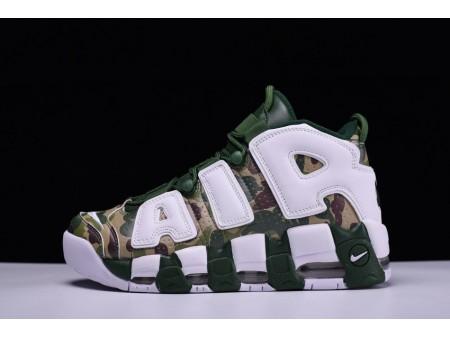 Bape x Nike Air More Uptempo OG Verde Camo 921948-313 para hombres y mujeres
