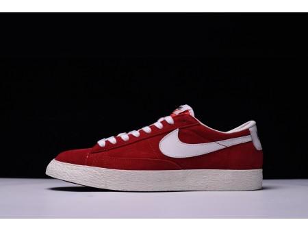 Nike Blazer Low Rojo 488060-610 para Hombres y Mujeres