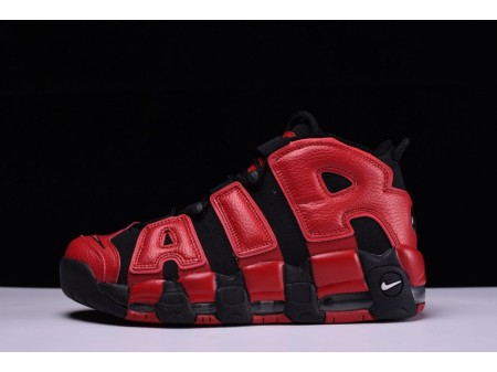 "Nike Air More Uptempo AIR ""Negro Rojo"" 921948-006 para Hombres y Mujeres"
