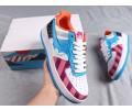 Parra x Nike Custom Air Force 1 Low Azul/Morado Hombre Mujer 314219-131