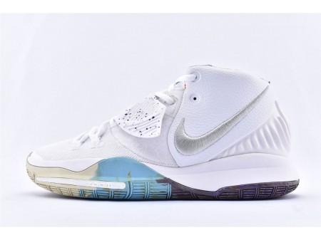 Nike Kyrie 6 EP Branco/Estrelado Azul Splash BQ9377-102 Homens