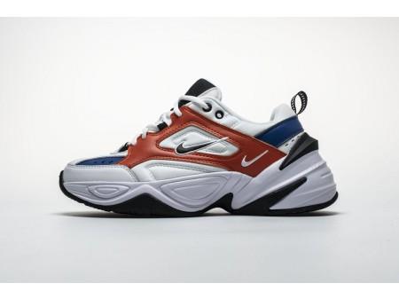 "Nike M2K Tekno ""Branco azul laranja"" AO3108-101 Homens Mulheres"