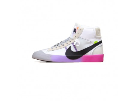 """Off White x Nike Blazer Mid """"Queen"""" OW Wolf Cinza AA3832-002 Homens e Mulheres"""