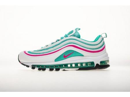"""Nike Air Max 97 """"South Beach"""" Branco Rosa Verde Cinético 921522 101 Homens e Mulheres"""
