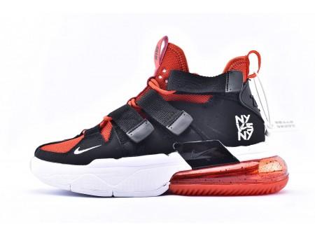 """Sapatilhas de basquetebol Nike Air Edge 270 High """"NY VS NY"""" preto vermelho CJ5846-800 Homens e mulheres"""