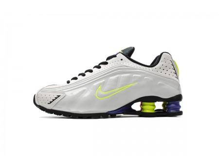 Nike Shox R4 Branco Flash Volt CI1955-187 Homens Mulheres