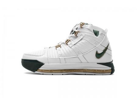 """Nike Zoom Lebron III QS """"SVSM Home"""" Branco/Deep Forest AO2434-102 Homem"""