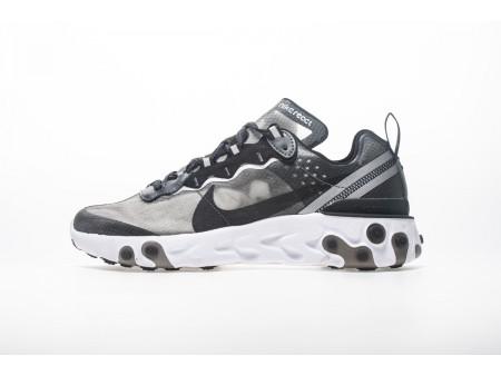 Nike React Element 87 Antracite Preto AQ1090-001 Homens Mulheres