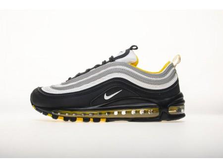 Nike Air Max 97 OG Preto Branco Amarelo 921522 005 Homens e Mulheres