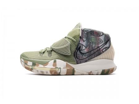 Nike Kyrie 6 EP Pre-Heat Xangai Exército Verde CQ7634 303 Homens
