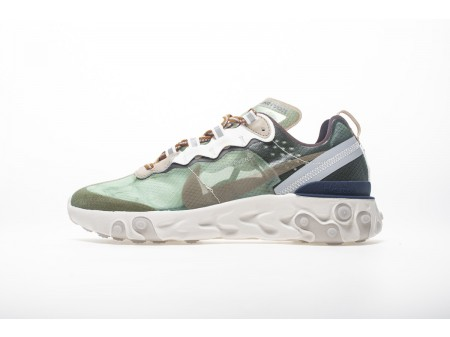 Undercover x Nike React Element 87 Verde Névoa BQ2718-300 Homens Mulheres