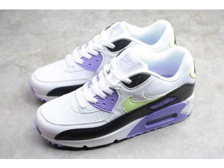 Nike Air Max 90 Lavender Branco Barely Volt Preto 325213-142 Mulheres