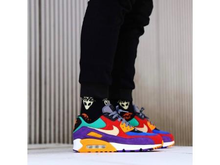 "Nike Air Max 90 ""Viotech"" CD0917-600 Homens Mulheres"