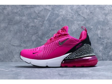 "Nike Air Max 270 ""Rosa Vermelho Preto/Diamante"" AQ6789 Mulheres"