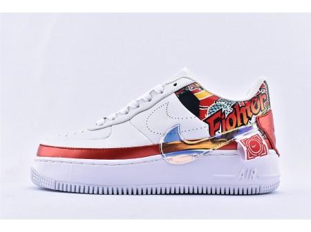 Nike Air Force 1 Jester Low XX FIBA China Exclusivo Branco Vermelho/Mult Cor CK5738-191 Mulheres