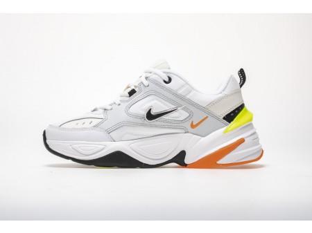 Nike M2K Tekno Pure Platinum Volt Laranja AV4789-004 Homens Mulheres