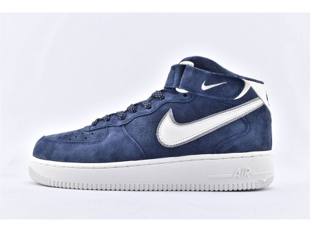 Nike Air Force 1 '07 Mid Suede 3M Azul Escuro AA1118-007 Homens Mulheres