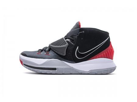 Nike Kyrie 6 EP Preto Cimento Cinza Universidade Vermelho BQ4631 002 Homens