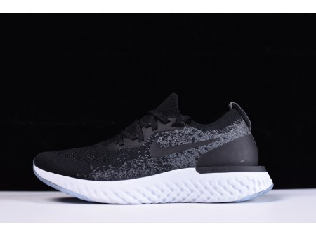 Nike Epic React Flyknit preto/cinza AQ0067-001 para homens e mulheres