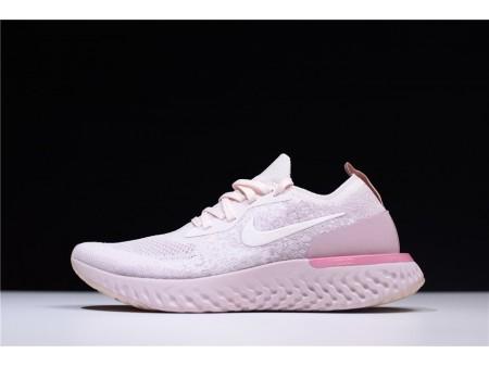 Nike Epic React Flyknit Pérola Rosa AQ0070-600 Mulher