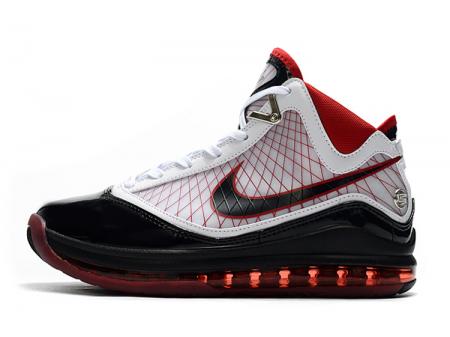 Nike LeBron 7 'Cleat' Branco Preto Vermelho Homens