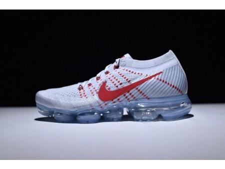 Nike Air Vapormax Flyknit OG Pure Platinum Universidade Vermelho 849558-006 para homens