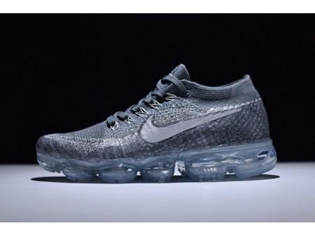 "Nike Vapormax Flyknit ""cinza asfáltico"" 849558-002 para homens e mulheres"