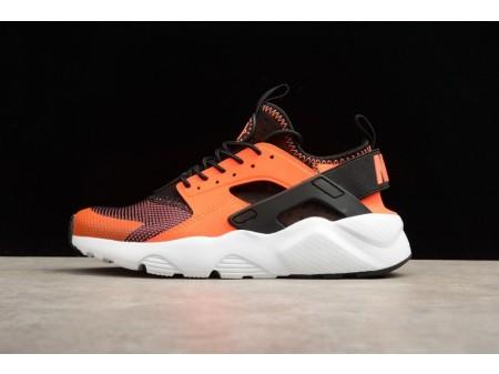 Nike Air Huarache Run Ultra Preto Total Carmesim 819685-008 para Mulheres